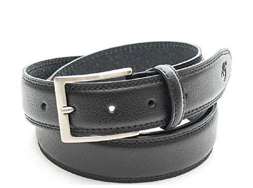 Timberland MM208 leren riem, heren, maat XL, kleur: zwart, metalen gesp, geruit met enkele lus,