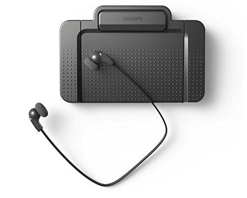 Philips LFH5220 - Set aus Fußschalter (Fußpedal ACC2310, Kopfhörer LFH0334, für digitale Diktiersysteme von Philips, 3 Pedale, indiv. konfigurierbar, rutschfest, robust, besonders ergonomisch