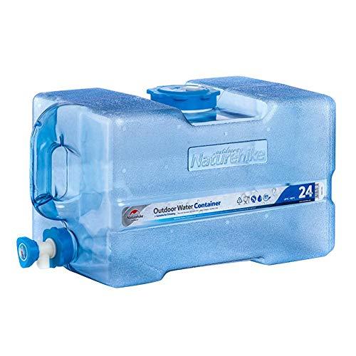 Contenedor de bidón de agua con grifo de 24 l, gran capacidad, no tóxico, portátil, camping, Jerrican, perfecto para camping, coche, casa