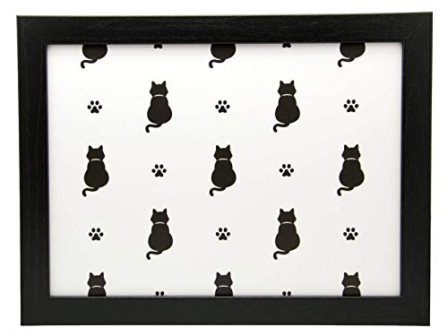 Kitten Paw Black Cat Cushioned Lap Tray Laptop Tray for Bed Laptrays for TV Dinners Lap Trays for Eating with Cushion Handmade Wood Frame