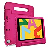 REGOKI iPad 10.2 2020 2019 / iPad Air 3rd Generation 10.5' 2019 / iPad Pro 10.5inch 2017 Case, Lightweight Kids Friendly Handle Stand Cover fit iPad 7th & 8th Gen 10.2inch 2019 & 2020 Released (Rose)