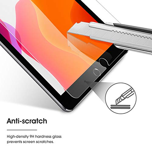 OMOTON [3 Stück] Panzerglas Schutzfolie kompatibel für iPad 10,2(iPad 8/iPad 7),iPad Air 3,iPad Pro 10.5, 9H Härte, Anti-Kratzen, Anti-Öl, Anti-Bläschen