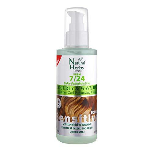 Seed Natural Herbs leave in Conditioner Curly hair 150 ml - Curl Booster- Locken pflege für mehr Glanz, Feuchtigkeit und Sprungkraft- Lockencreme ohne Parabene - Anti Frizz