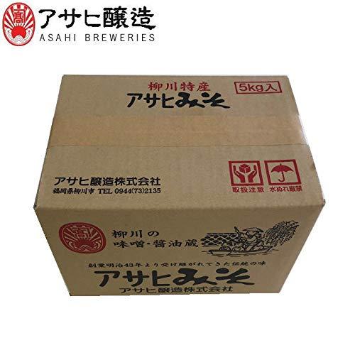 福岡県柳川 アサヒ醸造 合わせ味噌 5kg (ダンボール箱入)(5kg:合わせ)
