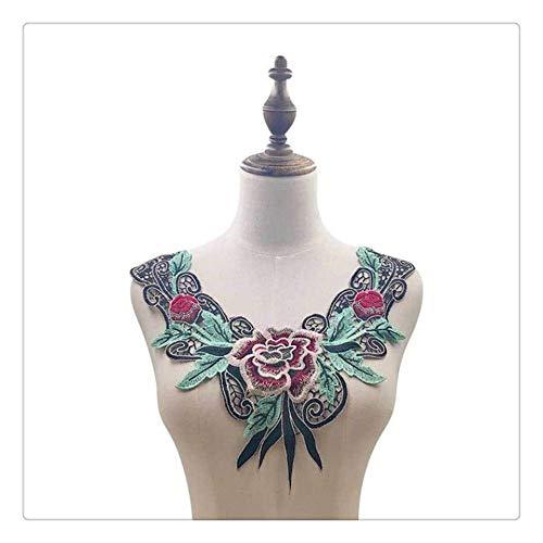 CGS2 Collar Hueco 3D Venecia Tela del cordón del Vestido de Apliques con Motivos de Costura de la Blusa del cordón de Costura DIY Recorta Craft Escote Decoración de Scrapbooking Fuentes de Costura de