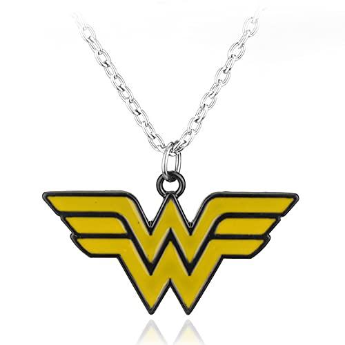 Comic Film Zubehör Accessoires Wonder Woman Logo Legierung Anhänger Halskette Anhänger Justice League Herrenschmuck Zubehör Geburtstagsgeschenke