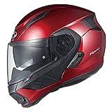 オージーケーカブト(OGK KABUTO)バイクヘルメット システム RYUKI シャイニーレッド (サイズ:L)