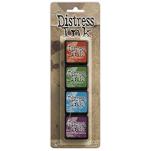 Ranger Distress Mini Ink Kits-Kit, Pack of 4, Multicolor, 5.4x2x1.7 Inches