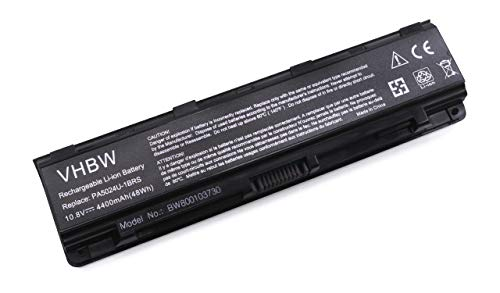 vhbw Batterie Compatible avec Toshiba Satellite C50, C70, C70D, C800, C800D, C805, C805D, C840, C840D, C845 Laptop (4400mAh, 10.8V, Li-ION, Noir)