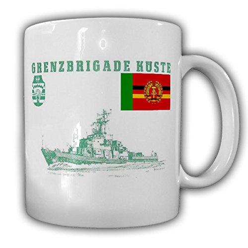 Grenzbrigade Küste GBrK Grenztruppen DDR NVA Deutschen Demokratischen Republik Volksmarine Rostock Marine GBK Fahne Abzeichen Wappen - Tasse Kaffee Becher #17478