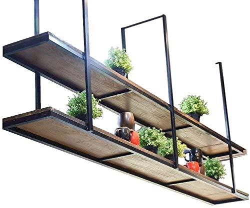Vintage-Holz-Wandregal Wandhalterung Regal für Eisen Decken Restaurant Geschäft zu Hause als Wanddekoration Blumenkasten Ladenregal Anwendungen,120CM