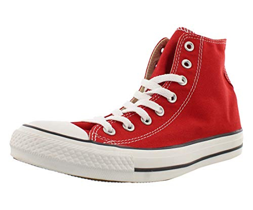 Converse Chuck Taylor All Star Hi Shoe Size 10.5 Women/8.5 Men, Color: Red Canvas/White