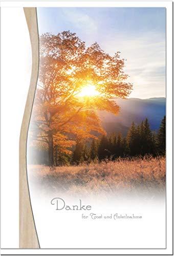 metALUm Danksagungskarten TRAUER | Sonnenuntergang | 10 Karten | 1501015