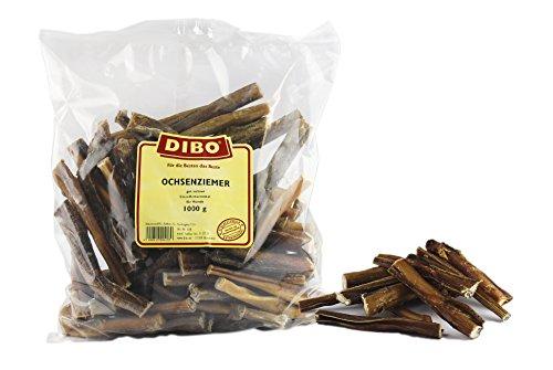 DIBO Ochsenziemer, 12cm, 1.000g-Beutel, der kleine Naturkau-Snack oder Leckerli für Zwischendurch, Hundefutter, Qualitätskauartikel ohne Chemie