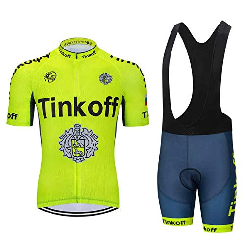 EIDKWTR Maillot de ciclismo de manga corta con culotte con tirantes para...
