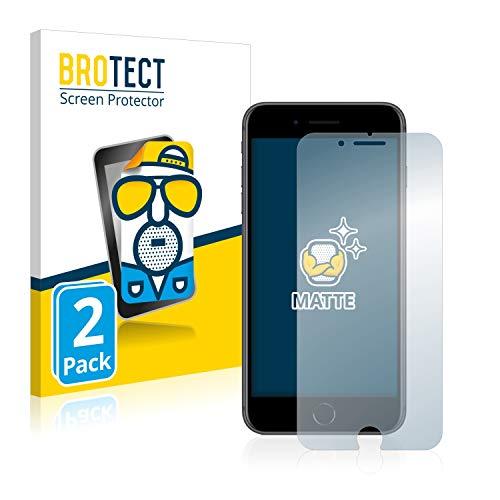 brotect Pellicola Protettiva Opaca Compatibile con Apple iPhone 8 Plus Pellicola Protettiva Anti-Riflesso (2 Pezzi)
