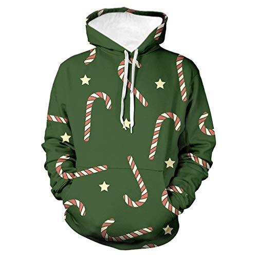 Yue668 - Caballete de Navidad con capucha 3D para hombre y mujer en pareja verde M