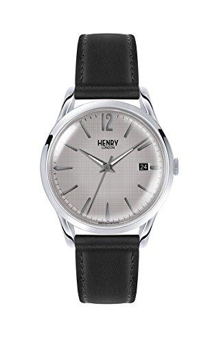 Henry London Reloj Analógico para Unisex Adultos de Cuarzo con Correa en Cuero 5018479079811