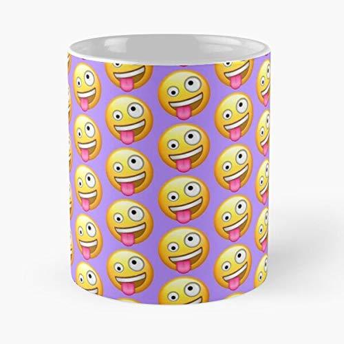 Taza de café de cerámica Coo Emoji Zany loco Emojis Koo Crazy Tongue Best 11oz