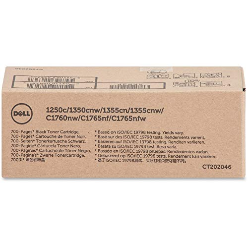 Original Dell C1760nw/C1765nf/C1765nfw/1250c/135X Standard Capacity Toner Kit, circa 700 Seiten, schwarz