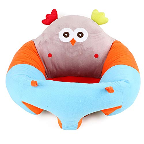 Best Price ZFRANC Baby Support Seat Portable Plush Soft Animal Shaped Children Chair with Vacuum Com...