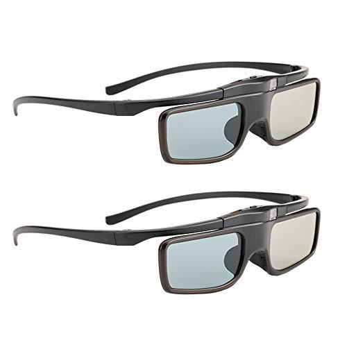 RF3DBrille, 3DShutterbrille wiederaufladbar Geeignet für RF 3D-Fernseher und -Projektoren, 3D Beamer Brille für Sony Epson Samsung JVC Sharp, kompatibel TDG-BT500A, SSG-5100GB, AN3DG40, 2er-Pack