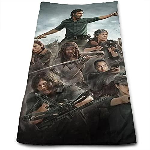Walking Dead Toallas de Algodón Altamente Absorbente Toalla Suave Hoteles Gimnasio Baños Playas 27.5x12In