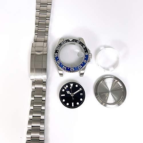 zhangxia caja del reloj Para ETA2836/Pearl 3804 Movimiento 867 GMT Accesorios Reloj 40MM Caja de acero inoxidable
