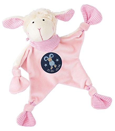 sigikid, Mädchen, Schnuffeltuch, Schaf mit Sternzeichen Widder, Rosa, 48816