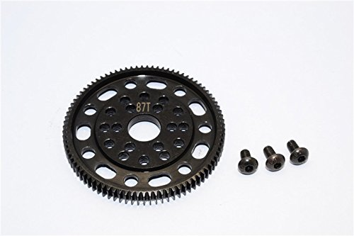 Axial SCX10 & Wraith Upgrade Parts Steel #45 Spur Gear 48 Pitch 87T - 1Pc Set Black