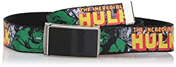 Buckle-Down unisex child Buckle-down Web Hulk 1.0  Belt Multicolor 1.0 Wide - Fits up to Kids Size 20 US