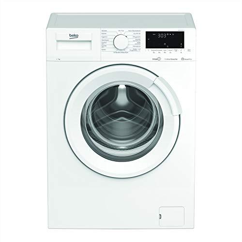 Beko WMB71664ST1 Waschmaschine Vollelektronisch/Touch-Display /1600 U/min/Bluetooth/10 Jahren Motorgarantie/Dampffunktion/Nachlegefunktion/Watersafe/7 kg, weiß/ Energieklasse C