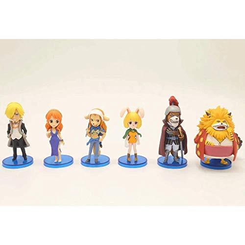 QHYZRV Anime One Piece série WCF Le Royaume de Zuowu Wanda Premium Edition Garot Boxed Figure Modèle Statue Figurine Sculpture 8 cm (6 pièces)
