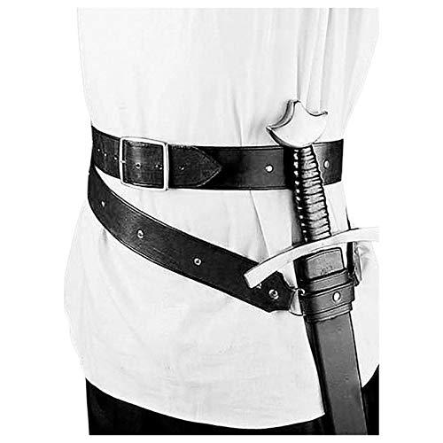 Retro Schwertscheide Halter Für Erwachsene Männer Kostüm, Mittelalterliche Retro Leder Schwert Frosch, Verstellbare Einfache Schwert Gürtelhalter Schutzhülle, Universal Leder Schwert Frosch