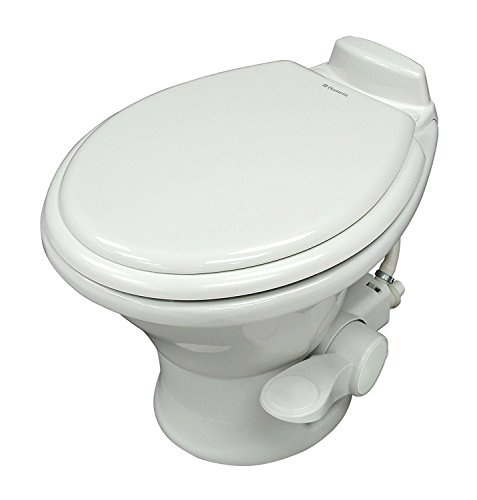 Dometic White 310 Series Standard Toilet 302310031, 19.75' Height, Slow Close Wood Seat
