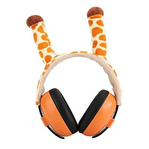 OhhGo Baby Geluid Isolatie Gehoorbescherming Oordop Cartoon Anti-Noise Hoofdtelefoon (Giraffe)