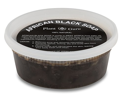 African Black Soap Paste 8 oz. 100% Raw Pure Natural From Ghana. Acne Treatment, Aids Against Eczema & Psoriasis, Dry Skin, Scars and Dark Spots. Great For Pimples, Blackhead, Face & Body Wash.