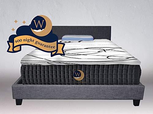 "NBD Corp Luna Series 12"" Dual-Firmness Hybrid Cool Sleep Mattress by WonderDreamz Made with CertiPur-US Certified Foam & Individually Encased Pocket Springs. 400-night Sleep Trial & 10 yr Warranty"