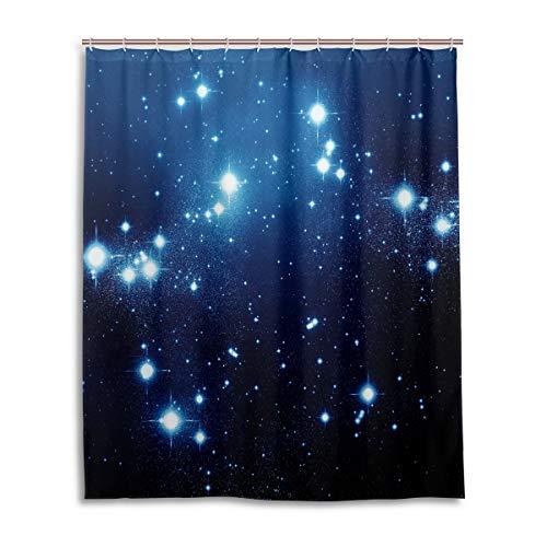 Pac Mac Shine Duschvorhang mit Musiknoten für Badezimmer, wasserdichter Stoff-Duschvorhang mit C-förmigen Ösen, 152,4 x 182,9 cm