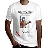 Ytwww123 Chaussette De Mode Singe Guitare Acoustique Country Music T-Shirt Homme à...