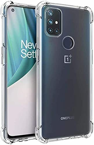 BNBUKLTD Compatible con OnePlus Nord N10 5G caso transparente a prueba de golpes y lápiz protector de pantalla de cristal