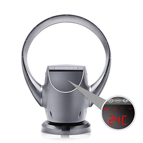 Ventilateur sans Lame Silencieux Murale Fan,Pliable,Oscillant Sécurité,pour Baby Room丨Ménage,avec Télécommande丨Timer,8 Vitesses,Ventil Climatiseur