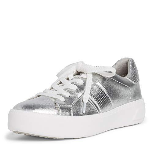 Tamaris Mujer Zapatillas, señora Bajo,Touch It,Zapato con Cordones,Plataforma de la Suela,Ocio,Zapato bajo,Zapato de Calle,Silver Uni,38 EU / 5 UK