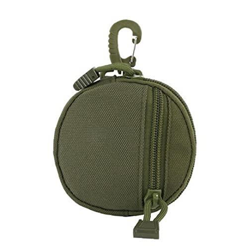 NIDONE Molle Bolsa Bolsa Universal Cadera Cintura cinturón Monedero Monedero Caja de teléfono con Cremallera para al Aire Libre Camping Verde