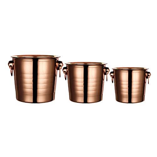 LXJ Cubo De Hielo De Acero Inoxidable De 7L Y Pinzas De Hielo, Cubo De Hielo, Fiestas Familiares BBQS Parties Rose Gold Tiger Head Bucket(Color:Traje de Tres Piezas)