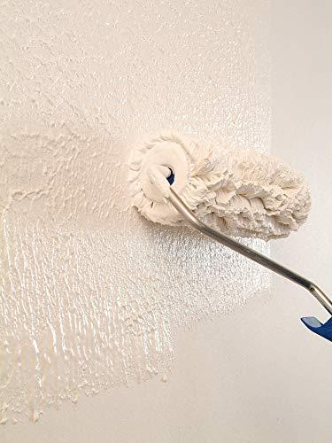 Knauf 696537 Extra Fein 11 kg 0,5 mm EASYPUTZ, Körnung, schneeweißer, mineralischer Dekorputz, hochwertig, zum einfachen Aufrollen auf Wand oder Decke im Innenbereich, atmungsaktiv - 6