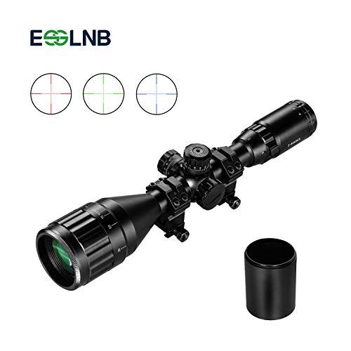 ESSLNB Zielfernrohr Luftgewehr 3-9x50 AOEG Mil Dot Entfernungsmesser mit Sonnenschirm 20mm/22mm Montage und Schutzkappe für Jagd Softair und Armbrust