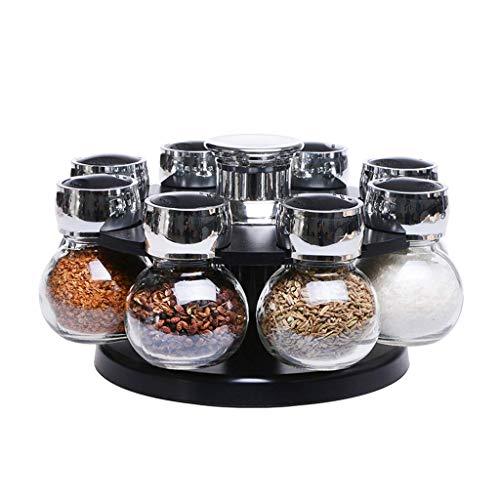 Manyao di alta qualità Rotazione condimento Jar Set Creative Glass condimento Box Saliera condimento Household Storage Cucina Supplies Combinazione