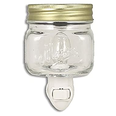 Mason Jar Plug In Fragrance Wax Warmer or Night Light Clear by Tuscany Candle