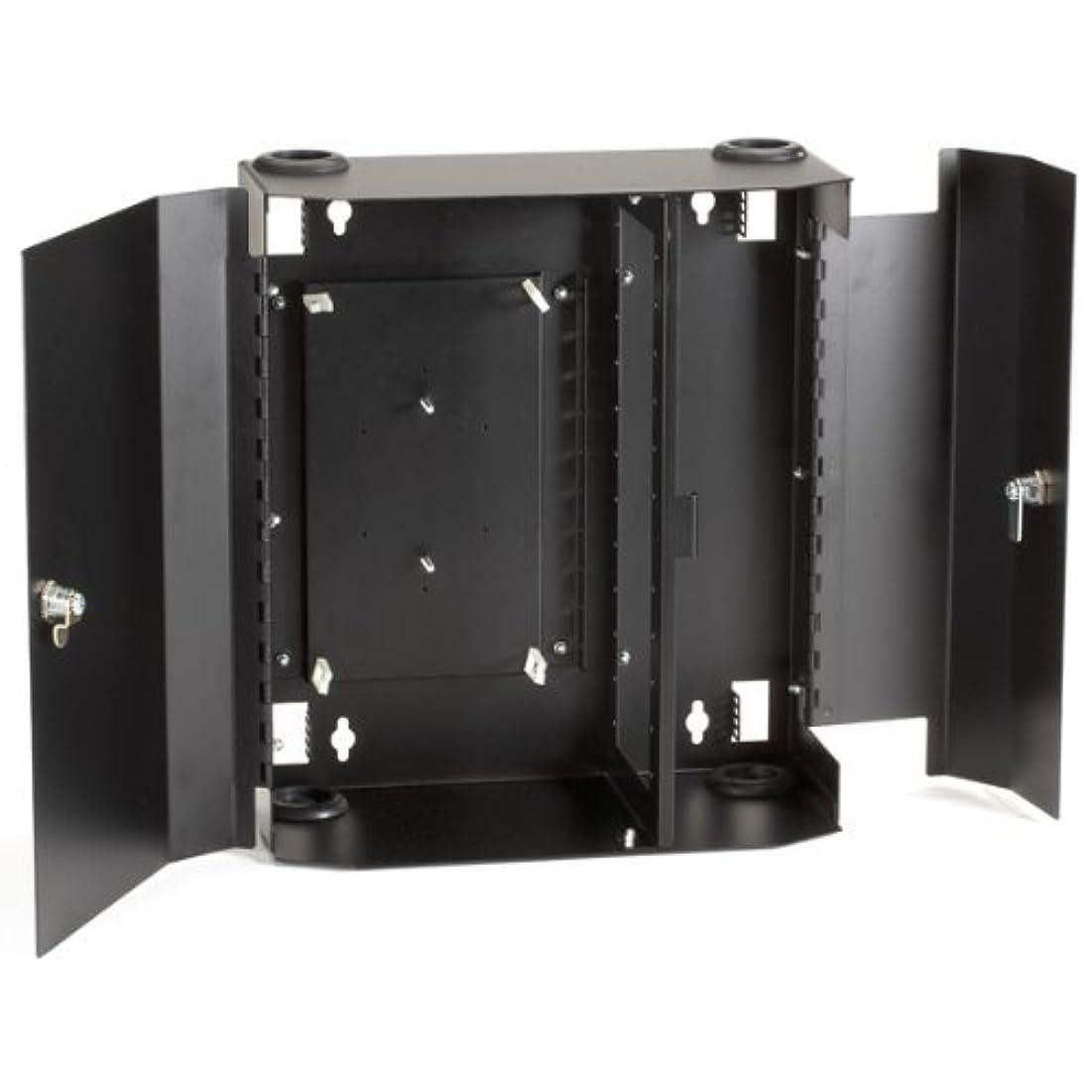 布適切に命題Black Box Fiber Wall Cabinet, Lock-Style, 12-Adapter Panel [並行輸入品]